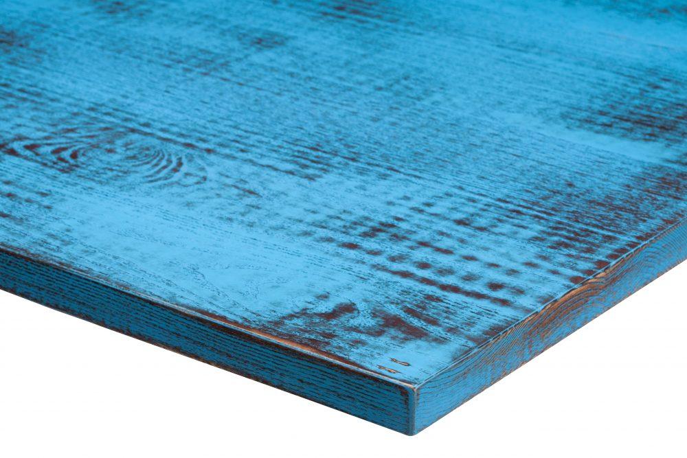 Distressed Walnut RAL 5012 Light Blue