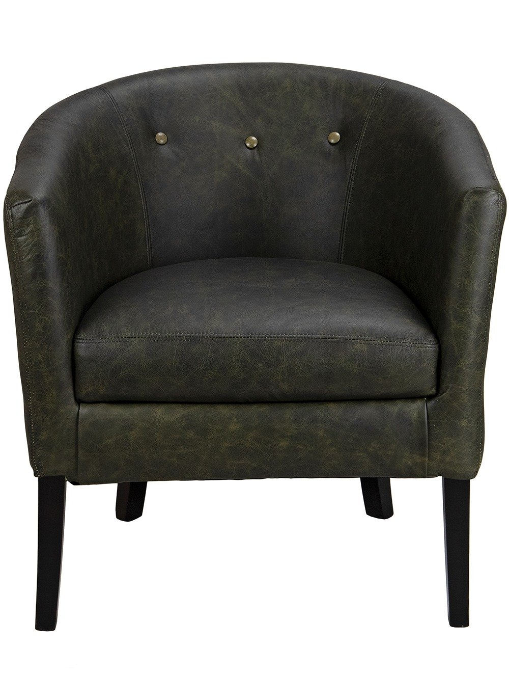 Ambassador Tub Chair with shallow button detail from the front