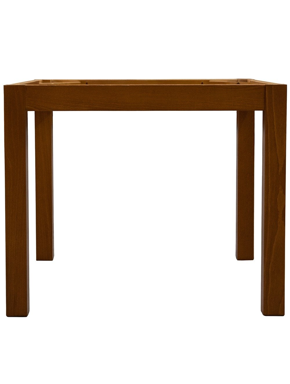 Straight 4 Leg Dining Table from the front