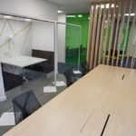 Hospitality Shield used as office partition