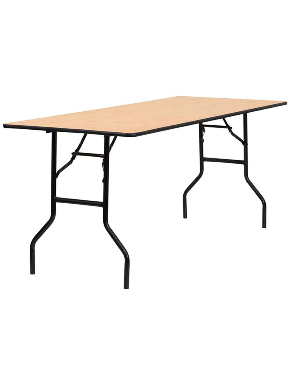 Rectangular wooden trestle table