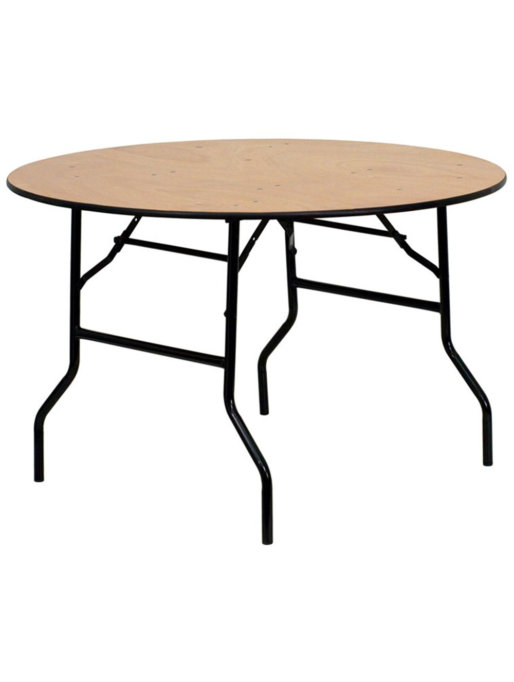 Round wooden banqueting table
